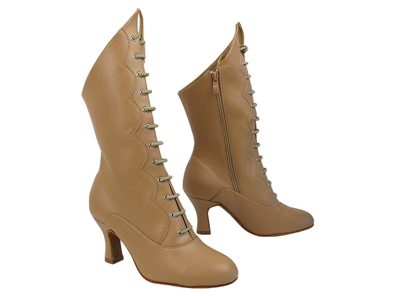 VFBoot SERA CanCan Beige Brown Leather with 2.5 inch Heel (Heel Code PG-11046) in the photo