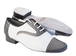916102 263 Grey Satin_White Leather