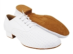 C919101 White Perforated Leather