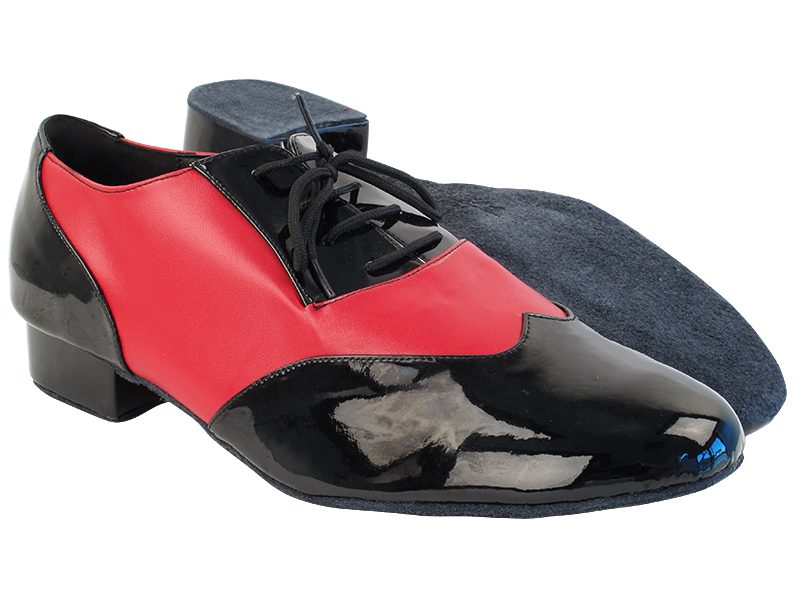CM100101 Black Patent_Red Leather