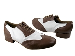 M100101 133 Coffee Brown Leather & White Leather