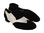 M100101 244 Black Suede_F_B_323 White Diamond Velvet_M