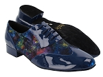 M100101 297 Dark Blue Patent_F_B_317 Black Illusion Velvet_M
