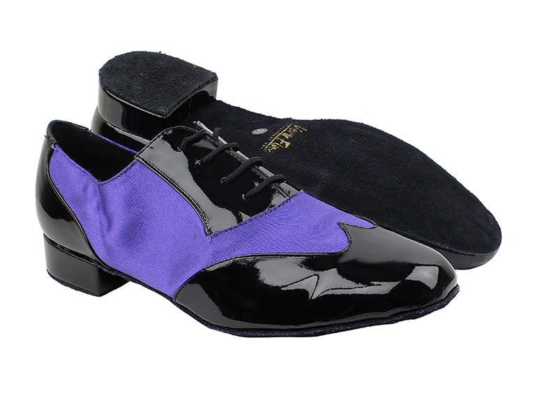 M100101 Black Patent_F_B_245 Voilet Satin_M with 1
