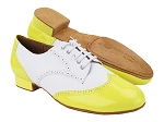 PP301DB 226 Fluorescent Yellow_F_B_White Leather_M
