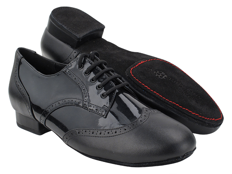 PP301DB Black Leather_F_B_H_Black Patent_M_S