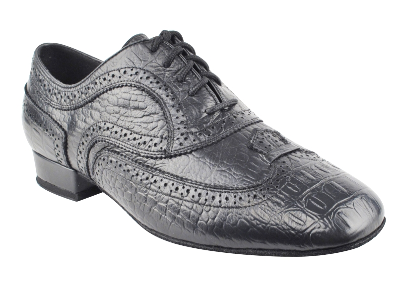 CD9002A Black Croc Embossed Leather with 1