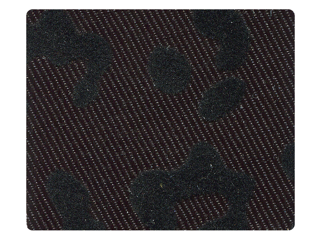 261 Black Leopard Fabric Swatch