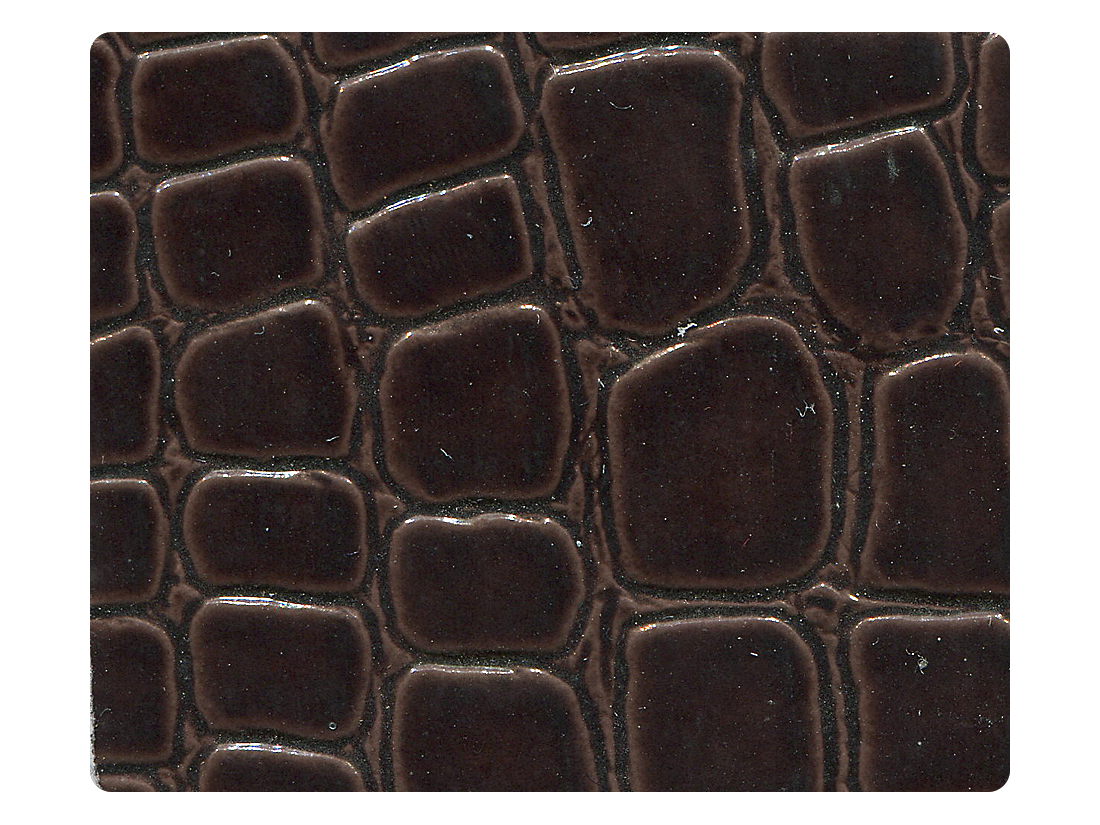 262 Copper Crocodile Patent PU Fabric Swatch