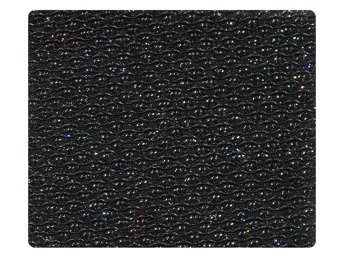273 Black Glitter Fabric Swatch
