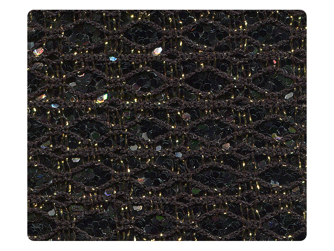 277 Black_Gold Sparkle Fabric Swatch