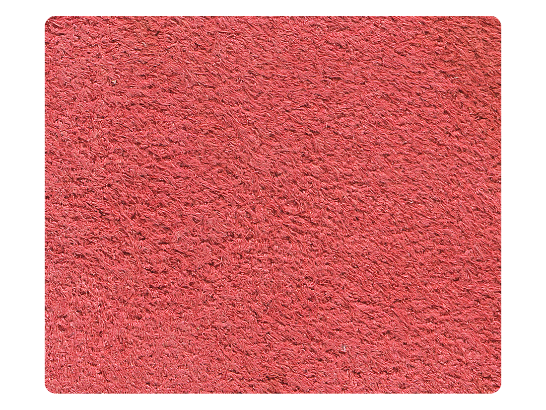 284 Red Suede Fabric Swatch