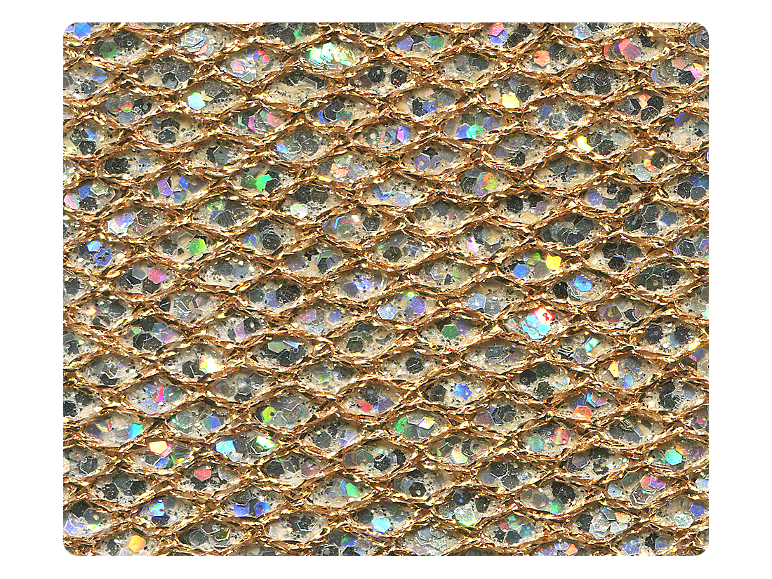 74 Gold Sparklenet Fabric Swatch