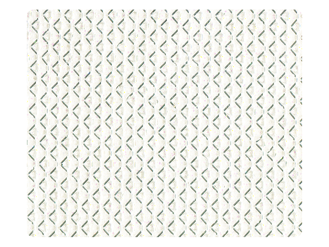 104 White Glitter Satin Fabric Swatch