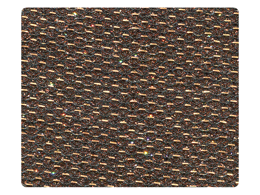 117 Copper Glitter Satin Fabric Swatch