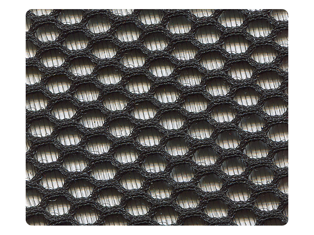134 Black Hexagonal Mesh Fabric Swatch