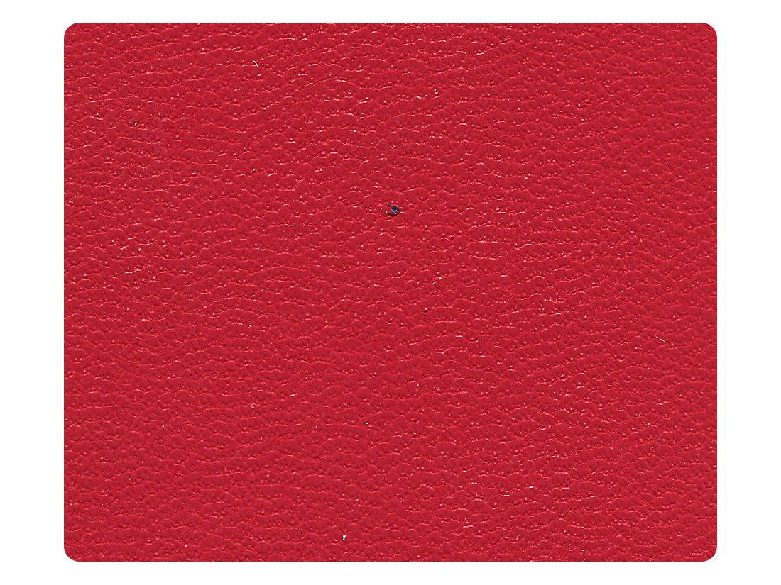 135 Red Leather Fabric Swatch