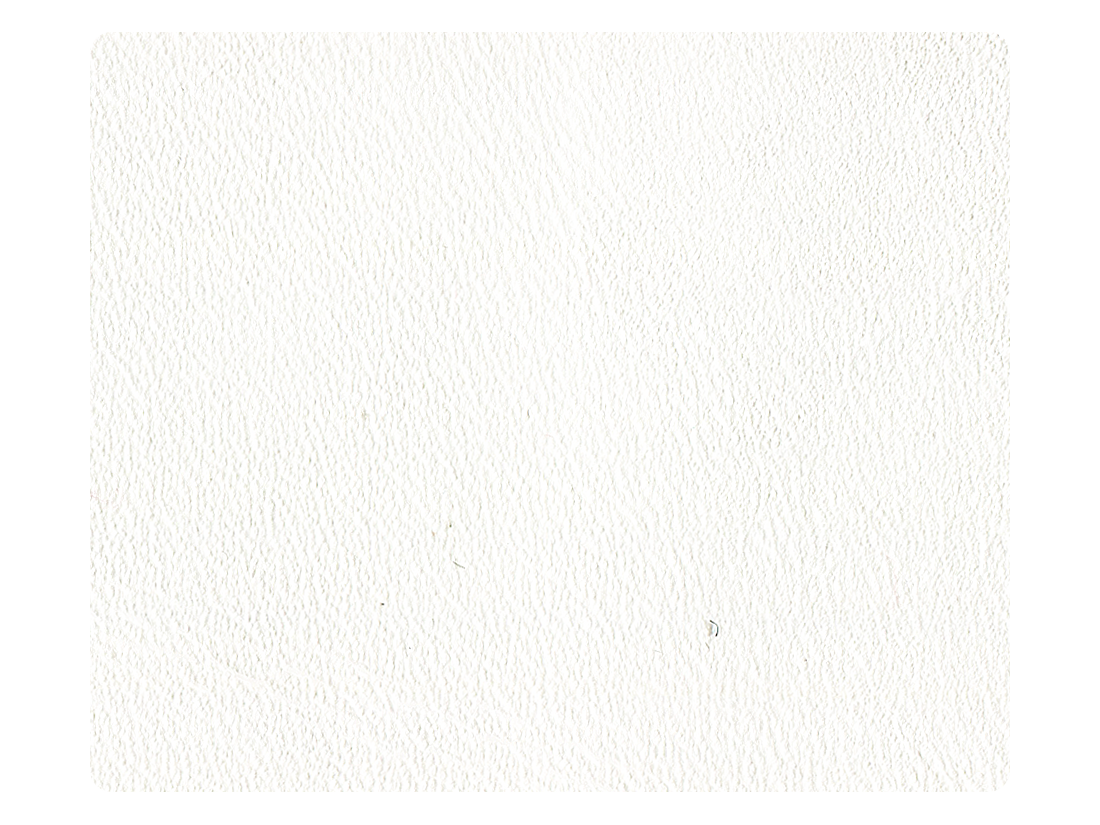 136 Creamy White Leather Fabric Swatch