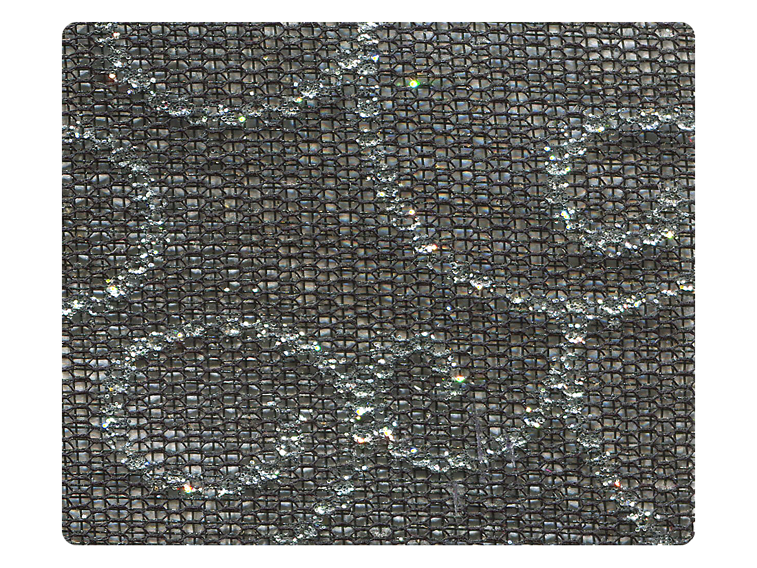 141 Silver Vine Black Mesh Fabric Swatch