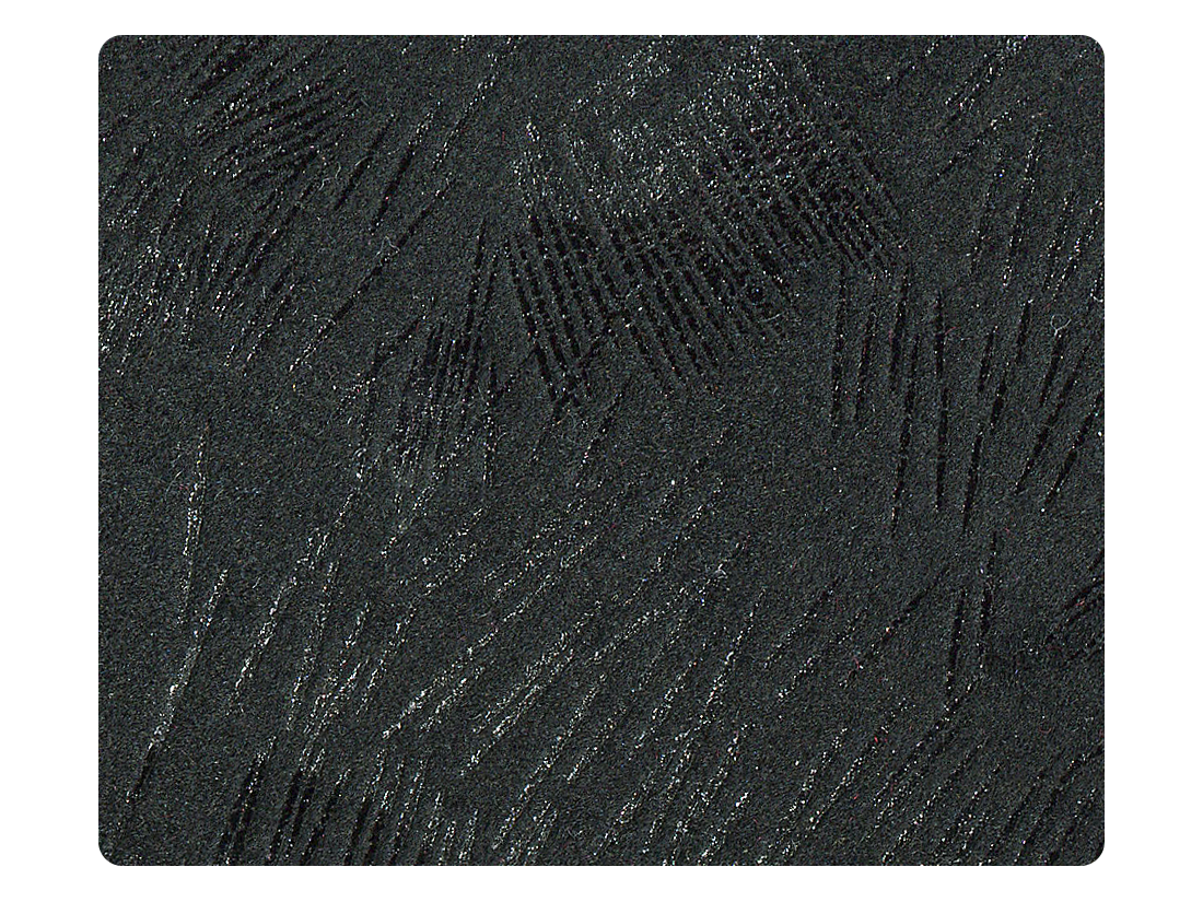 167 Pine Pattern Black Velvet Fabric Swatch