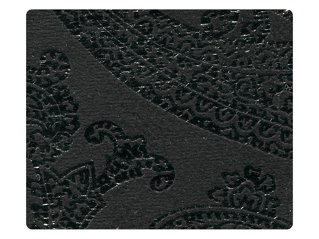 168 Black Flower Velvet Fabric Swatch