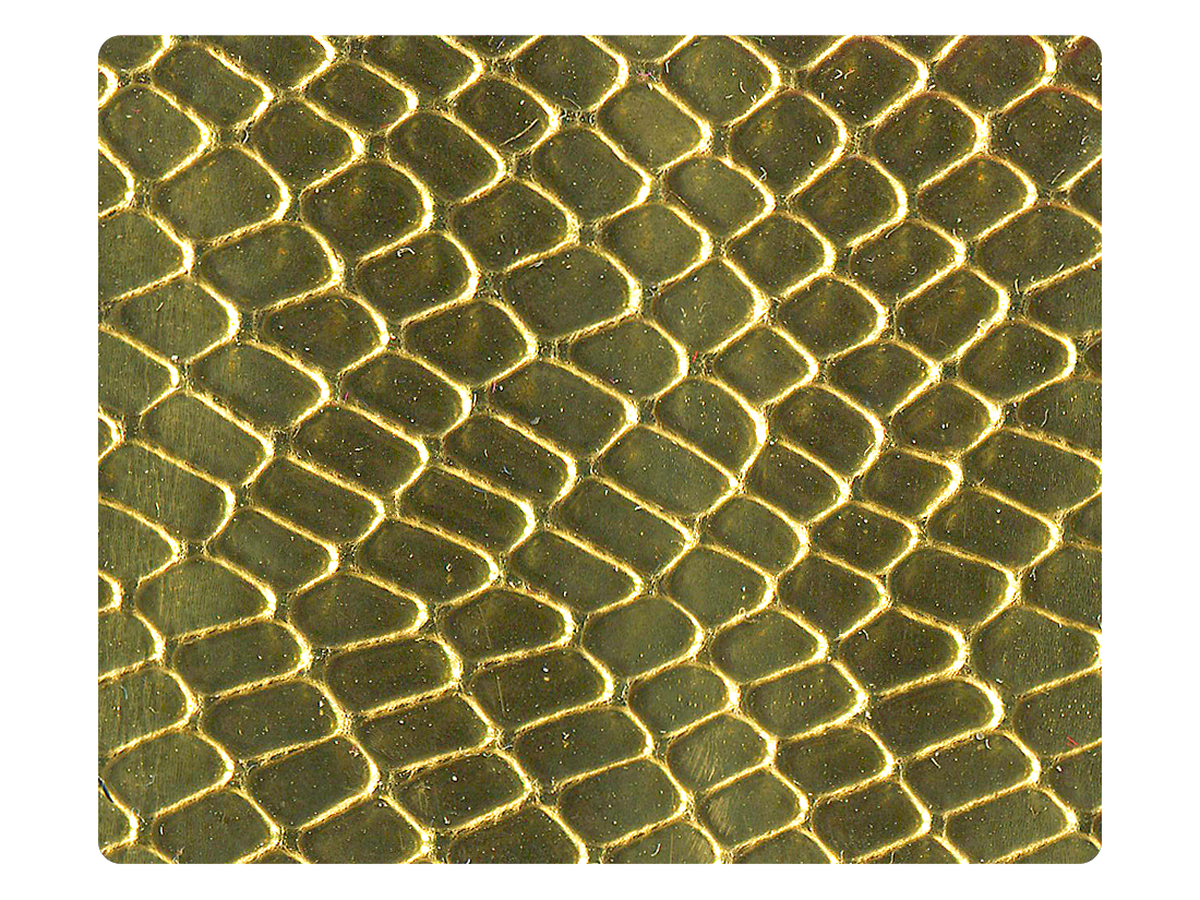 173 Snake Gold PU Fabric Swatch