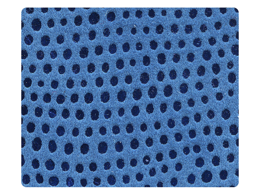 180 Illusion Blue Velvet Fabric Swatch