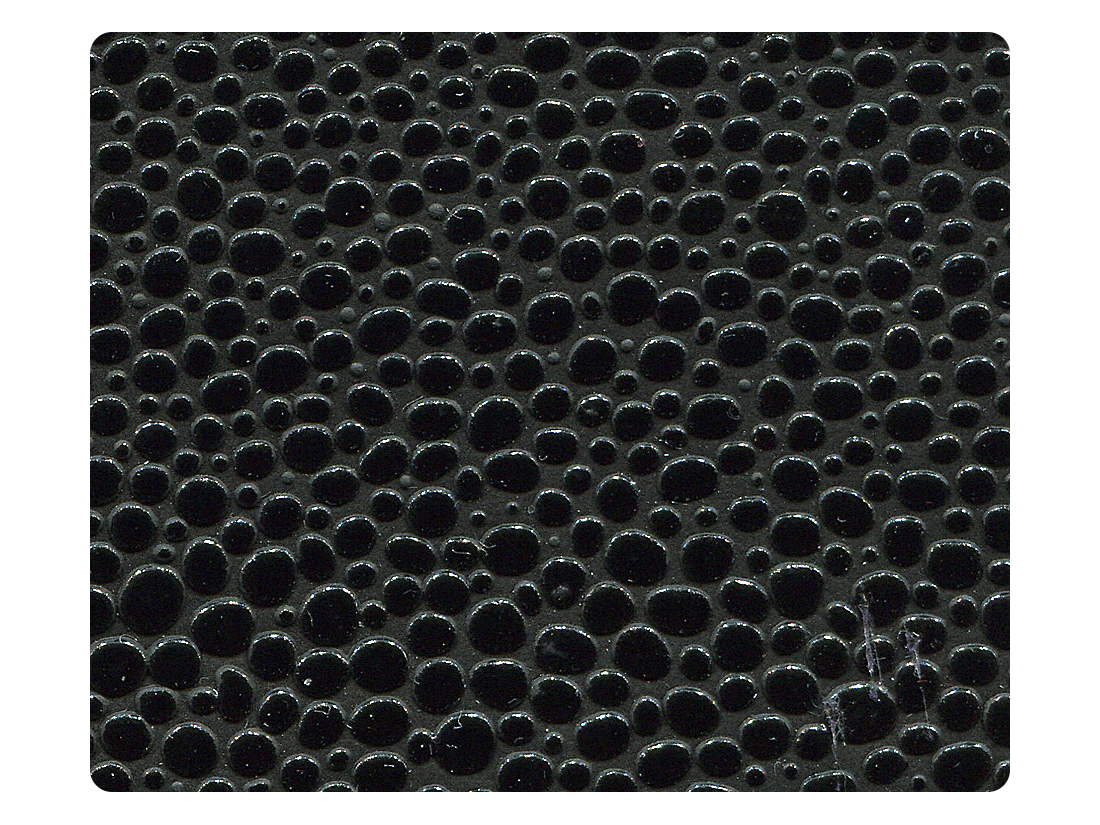185 Laser Black PU Fabric Swatch