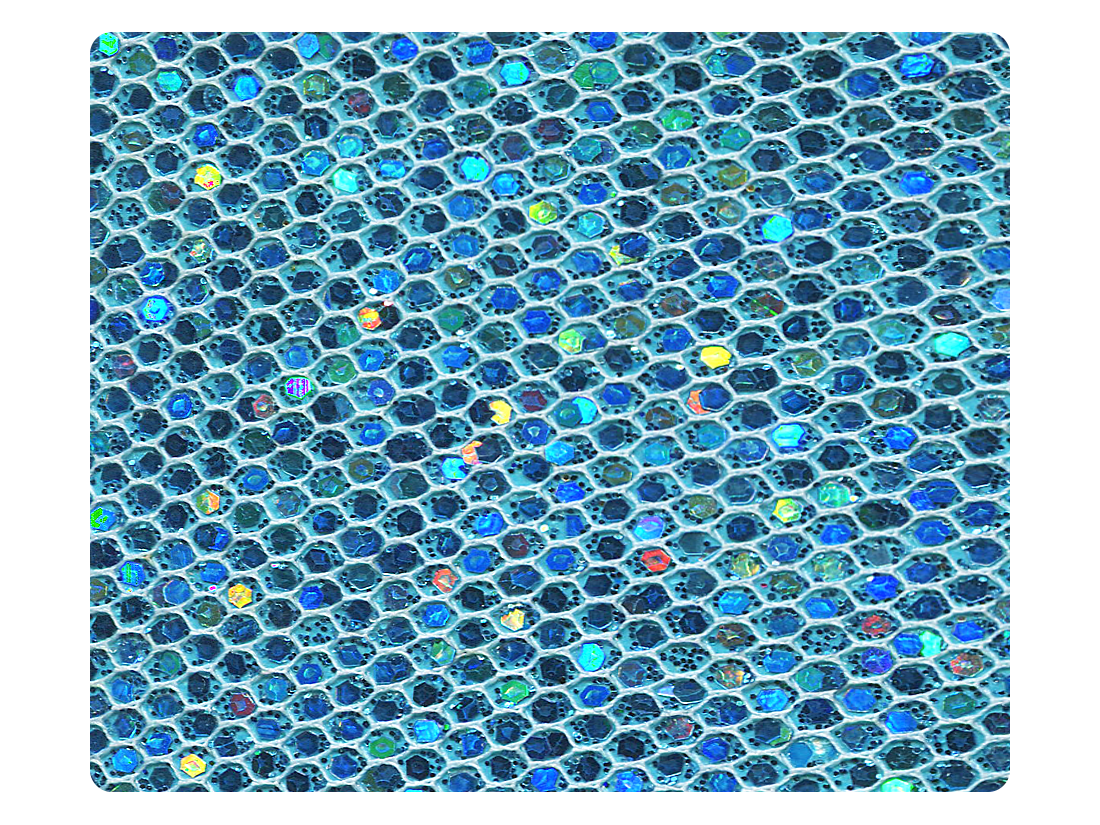 96 Light Blue Scale Fabric Swatch