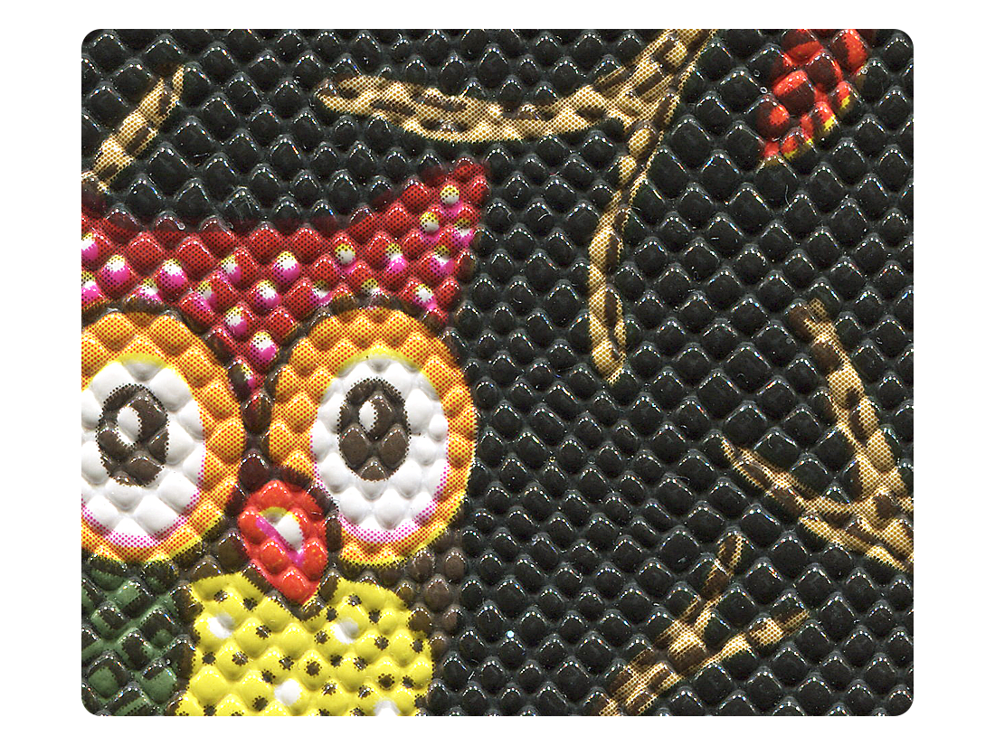 98 Black Owl PU Fabric Swatch