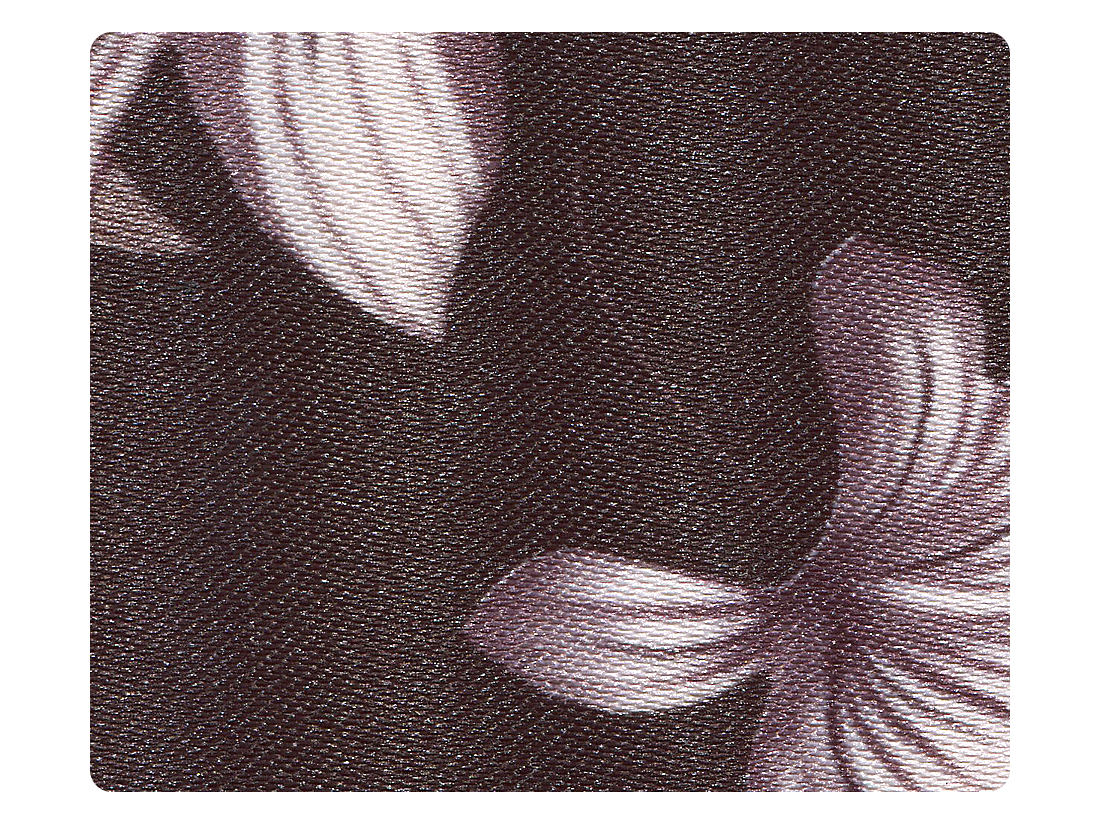 199 Black & Grey Flower Satin Fabric Swatch