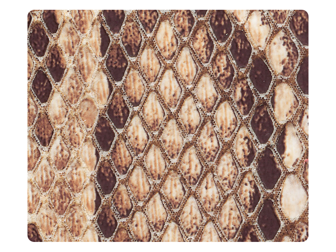 242 Brown Snake PU Fabric Swatch