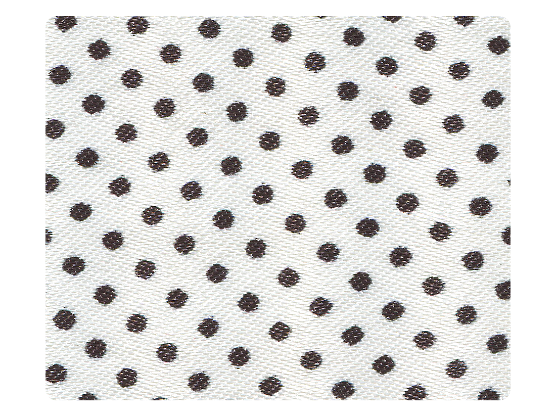 256 White & Black Dots Satin Fabric Swatch