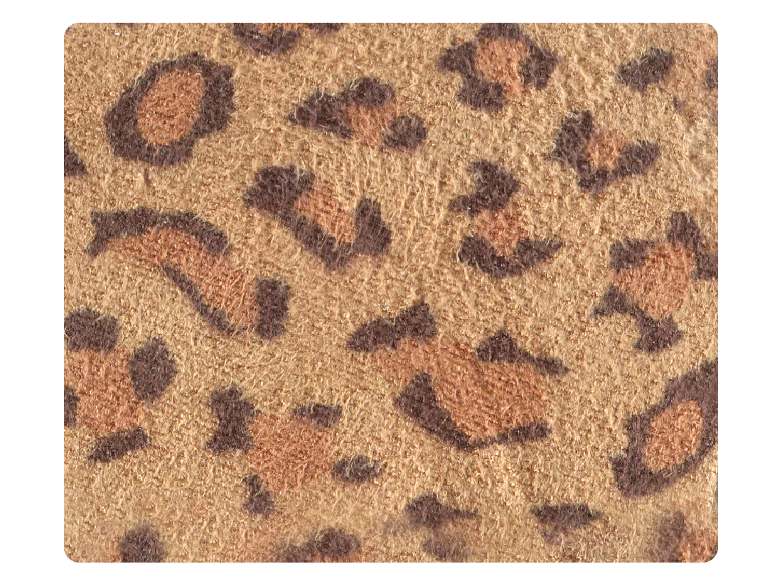 267 Leopard Velvet fabric swatch
