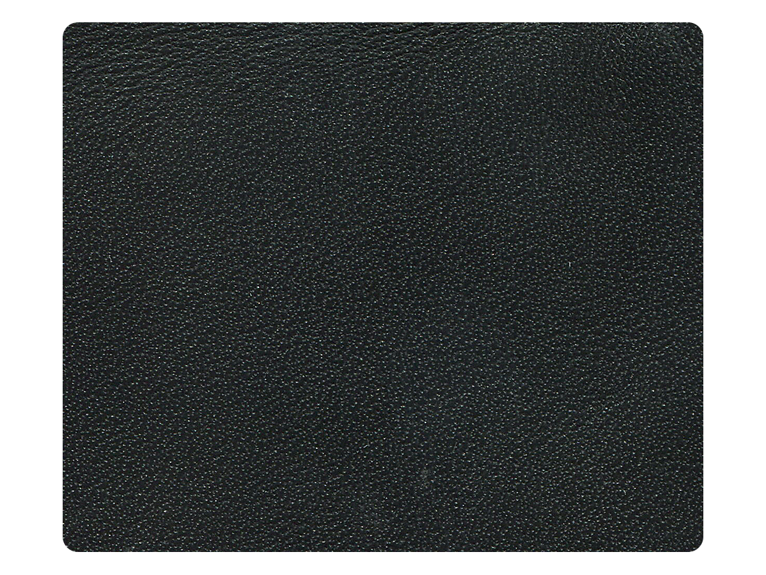 276 Genuine Black Leather (Cowhide) Fabric Swatch