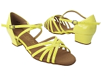 C1670C 226 Fluorescent Grass Yellow Patent_1.5 Heel