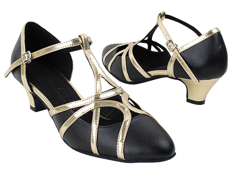 SERA3541 Black Leather & Light Gold Trim with (5028) 1.2