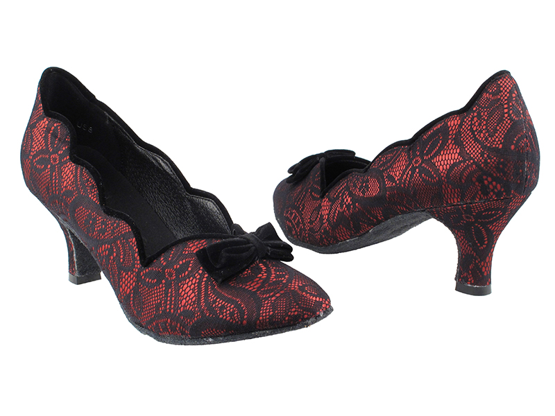 on sale on wholesale special section SERA5515 Red & Black Lace