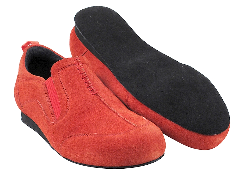 SERA701BBX Red Suede with flat heel in the photo