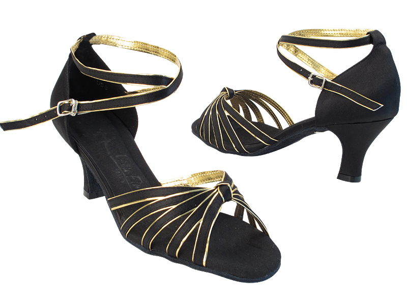 SERA7043 Black Satin_Gold Trim with (2899) 2.5