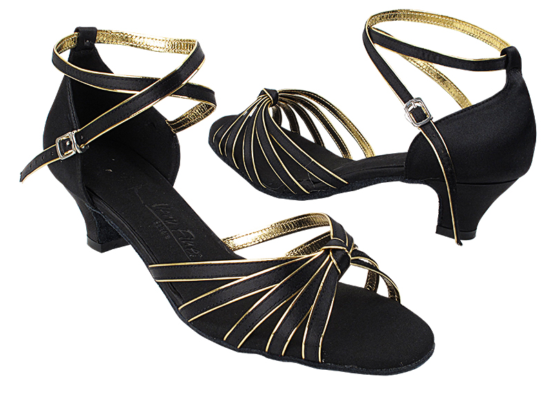 SERA7043 Black Satin & Gold Trim with (5028) 1.2