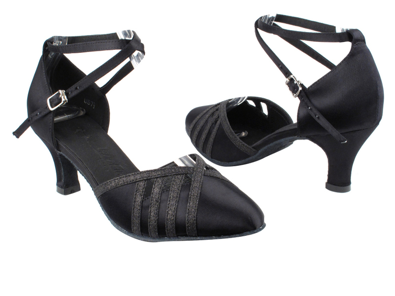 SERA3530 Black Satin & Black Stardust Trim with 2.5