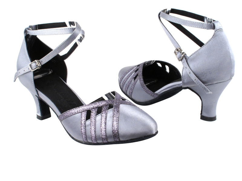 SERA3530 Grey Satin & Grey Stardust Trim with 2.5