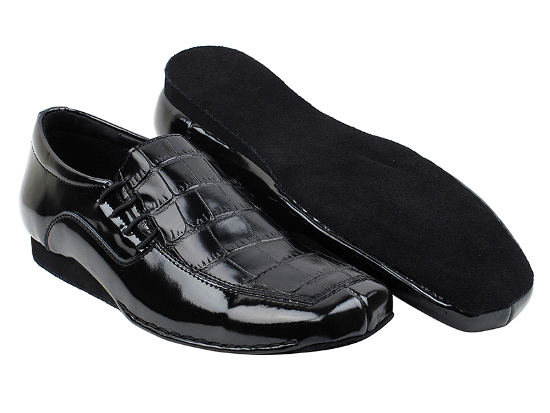 SERO102BBX Black Croc with flat heel in the photo
