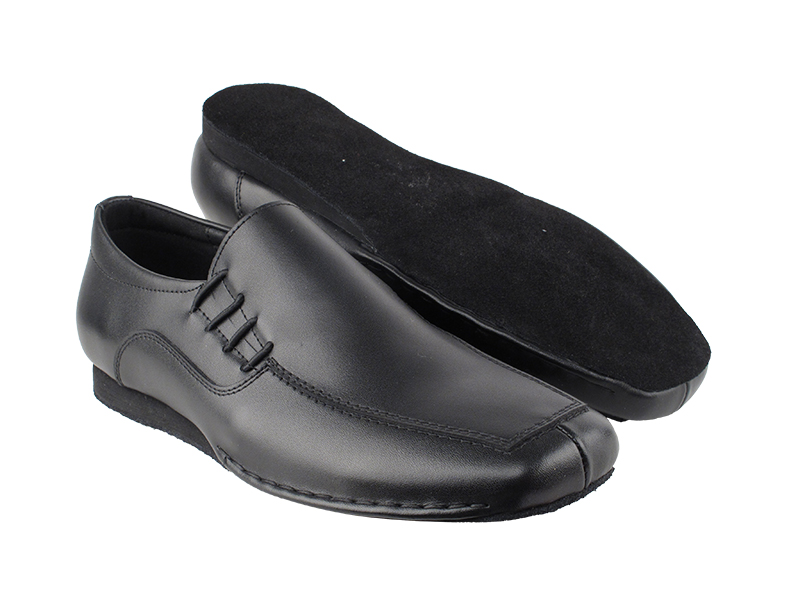 SERO102BBX Black Leather with flat heel in the photo