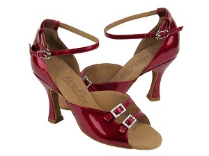 "C1620 Red Patent with 3"" Flare heel in the photo"