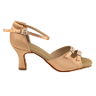 "C1620 Tan Satin with 2.5"" Heel in the photo"