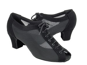 "C1643 Black Nubuck & Black Mesh with 1.6"" medium heel in the photo"