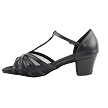 "C16612 Black Leather with 1.6"" Medium Heel in the photo"