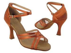 C5017 Dark Tan Satin